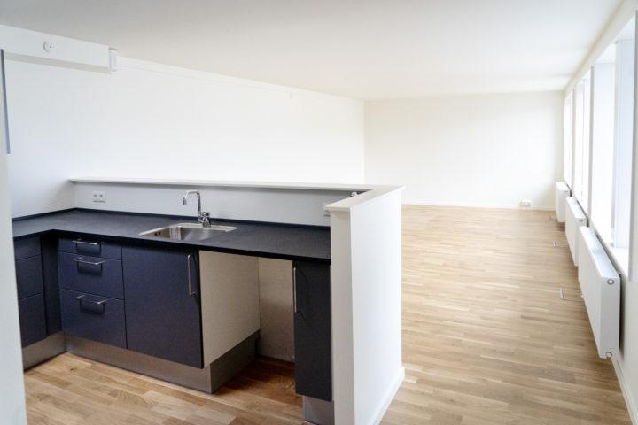 Skou Gruppen har installeret helt nye køkkener i de gamle kædehuse.